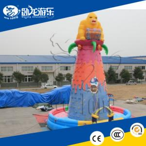 China 2018 Hot sale inflatable rock climbing wall, inflatable climbing wall for climber sports on sale