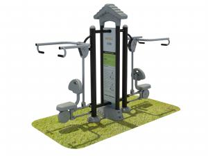 China Aluminum Steel Fitness Equipment Outdoor , Garden Fitness Equipment on sale