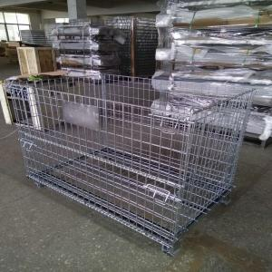 China Warehouse Metal Storage Cage Wire Mesh Gitterbox Pallet Rack 500kg Capacity on sale