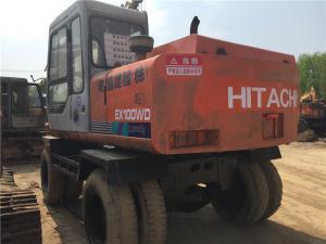 China Used Hitachi Wheel Excavator EX100WD-1 on sale