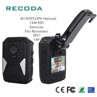 China Real Time 4G Body Camera Video GPS Tracking Fireproof 1440P HD Police Handy Recorder on sale