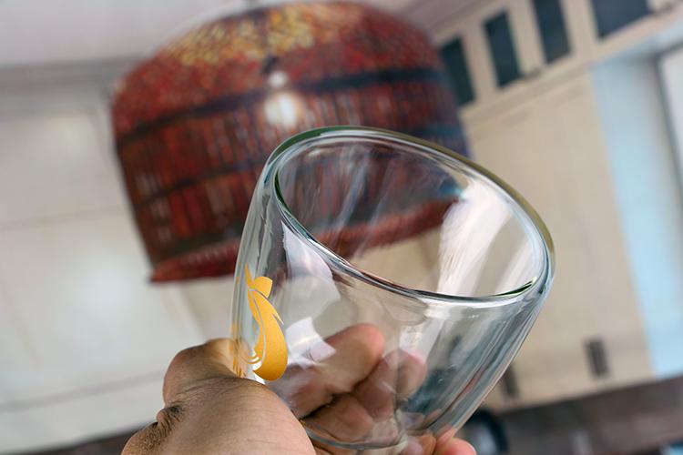 borosilicate glass tea cup