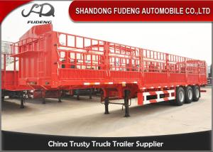 China 3 Axles 40 FT Side Wall Semi Trailer Steel Material 30-80 Tons Loading Capacity on sale