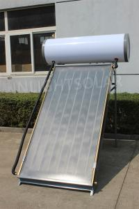 China Thermosyphon Pressurized Blue Tinox Flat Panel Solar Water Heater 100L - 1000L on sale