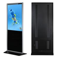 "43"" Floor Standing Lcd Advertising Display Media Player Support Lan / Wlan Network"