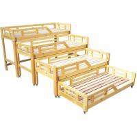 Wooden Kindergarten School Furniture , Nursery School Kids Bed With Slide High Strength