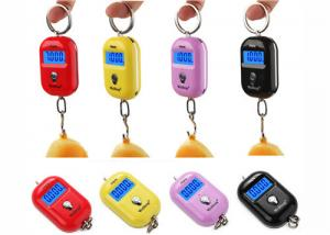 China Red Pink Yellow Mini Portable Electronic Luggage Scale 25 Kg Colorful Gift Items on sale