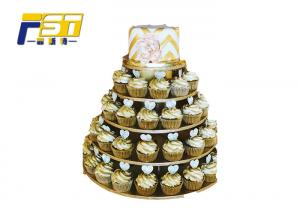 China CMYK Printing 3 Tier Cardboard Cupcake Stand Customized Providing Mockup Design on sale