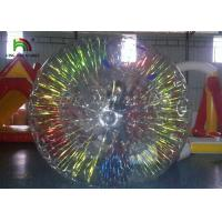 Customize 1.0mm PVC Inflatable Zorb Ball With Colorful Glow For Business Use