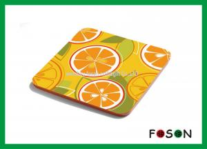China Custom Square Printing Absorbent Paper Drink Coasters For Hotel on sale
