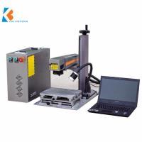 China Mini portable QR code metal watch mobile phone case deep fiber laser marking engraving machine on sale