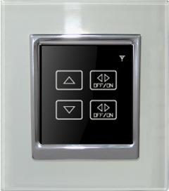 China 2-gang remote control dimmer switch and intelligent wall switch on sale
