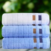 China 100% Cotton 30x70cm Solid Plaid Dyed Jacquard Design Family Face Towels Hair Towel Wash on sale