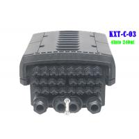 96 Core  4 Into 24 Out Multicore Joint Fiber Optic Closure Enclosure Outdoor IP68 1 X 16 PLC Splitter Support