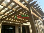 Beautiful DIY Garden Wall Mounted Pergola WPC Rot Resistance Recyclable 100%