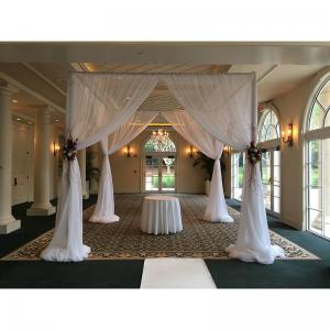 China UV backdrops for sale 2012 new wedding stage decoration pipe and drape system on sale