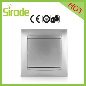 China Silver Plated Wall Switch Socket Faceplate 1 Gang on sale