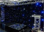 Stage Wedding Star LED Curtain Lights Warm White Drop Velvet Easy To Set Up