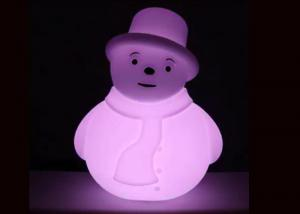 China Battery Operated PE White Appearance Colorful Lighting Snowman Xmas Decoration on sale