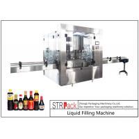 24 Head Nozzle Automatic Liquid Filling Machine For 0.5 - 2L Wine / Soy Sauce