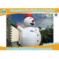 Gian Inflatable Advertising Products , Inflatable Snowman Christmas Decorations For Xmas