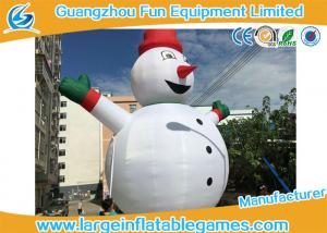 China Gian Inflatable Advertising Products , Inflatable Snowman Christmas Decorations For Xmas on sale