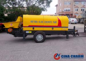 China 60 M3/H Electric Mobile Concrete Pump , Small Portable Concrete Pump on sale