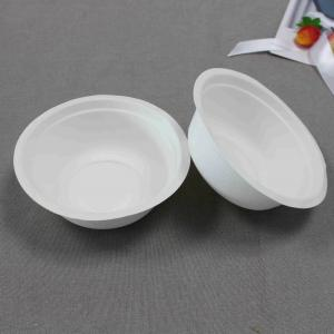China Disposable 12oz(350ml) Biodegradable Sugarcane Pulp Bowl ,High Quality  salad bowl fast food package bowl  , soup bowl on sale