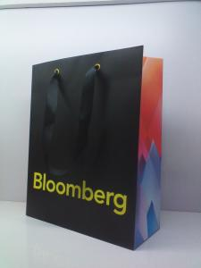 China Customized Design Printed Art Paper Bags, Ribbon Handle Bags on sale