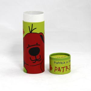 China Lovely Cartoon Design Kraft Cardboard Paper Cans Packaging SGS-FDA Certification on sale