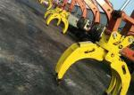Wood Grapple / Stone Grapple Backhoe Grapple Attachments For Structure Demolition