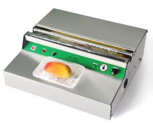 China Stainless Steel Electric PVC Cling Film Wrapping Machine / Food Tray Sealing Machine on sale