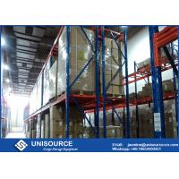 Adjustable Heavy Duty Storage Racks , Upright Frame Warehouse Pallet Racking