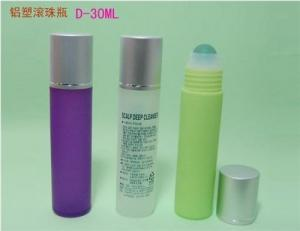Quality 30ml 1oz cosmetic roll on bottle with plastic ball or steel ball,roll on bottle for sale