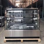 3 Tiers Stainless Steel Refrigerated Bakery Display Case Showcase Cooler With LED Lighting