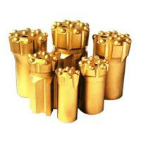 China Button bits T38-76 golden color drilling for marble and granite stone on sale