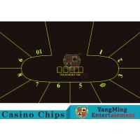 China Good Resilience Casino Table Layout High Density Black Color With Crown Logo on sale