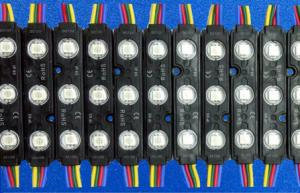 China High Brightness 3 Chips Led Module SMD 5050 / RGB LED Module Waterproof With Lens on sale