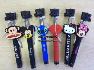 China Wholesale Cartoon Wired Selfie Stick Monopod, without bluetooth design on sale