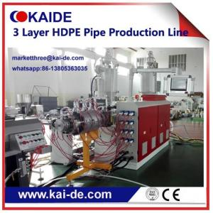 China 20-110mm HDPE irrigation pipe production line three layer High speed Cheap price on sale
