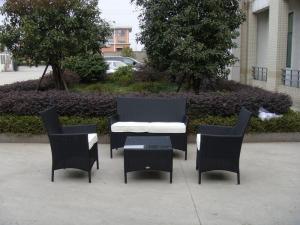 China 4pcs cheap KD wicker furniture   on sale
