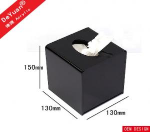China Square Mini Transparent Facial Tissue Box ,  Acrylic Holder Stand For Hotel on sale