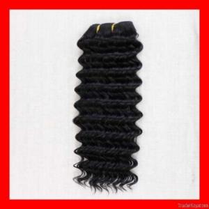China Deep Wave Weft Hair on sale
