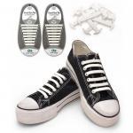 Elástico patenteado novo nenhuns laços de sapata da forma do silicone do laço