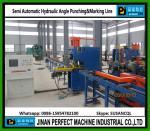 Línea hidráulica/mecánica semi automática de Punching&Marking del ángulo (modelo YC160)