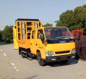 China ISUZU Chassis Pneumatic Truck Mounted Attenuator With LED Display Screen on sale