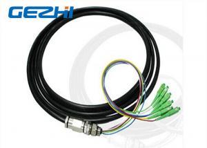 China 6 Core SC / APC Fiber Optic Pigtail singlemode 9/125 um OS2 LSZH 15 Meter 0.9mm on sale