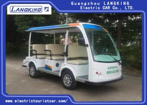China 8 Seats Blue Eco Friendly Electric Tourist Car High Frequency Onboard Charger on sale
