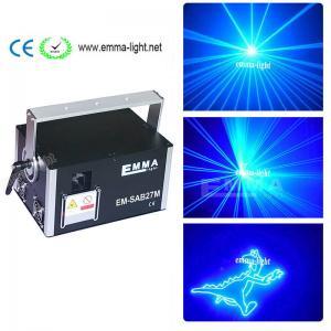 China 4W blue Laser Stage Light Pro DMX-512 Lighting Laser Projector Party DJ Light on sale