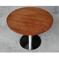 Durable Wooden Dining Room Tables Polished Metal For Restaurant